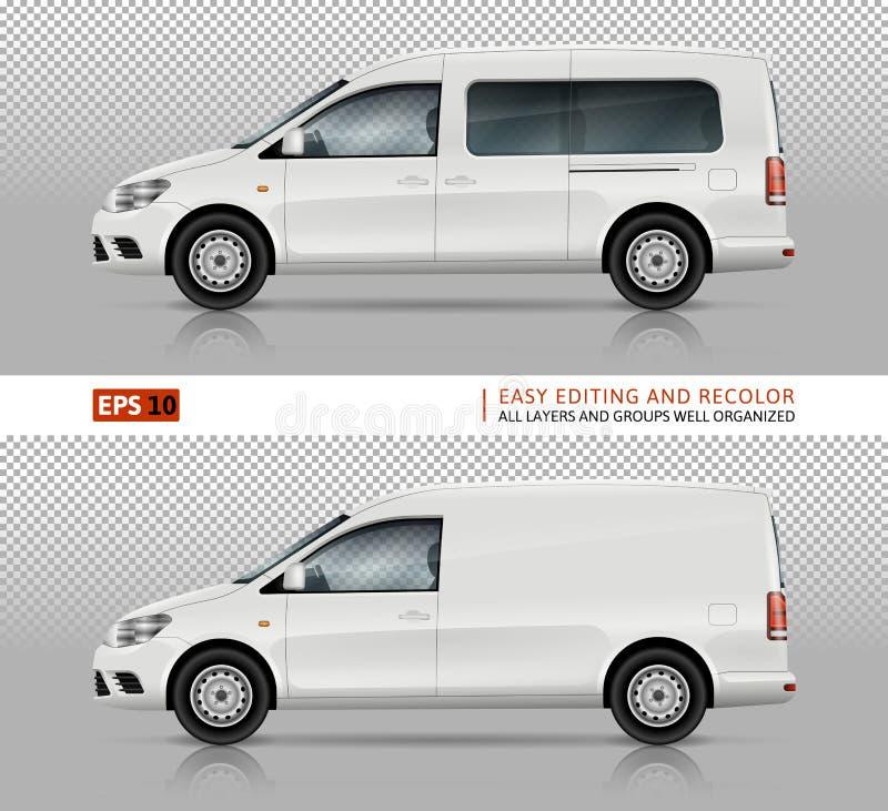Bilvektormall vektor illustrationer