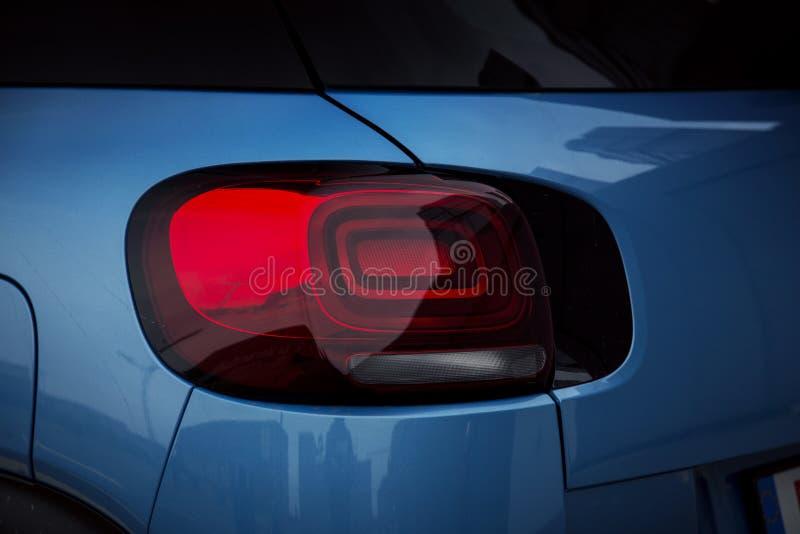 Bilyttersida: LEDD lampa för bakre ljus arkivbild