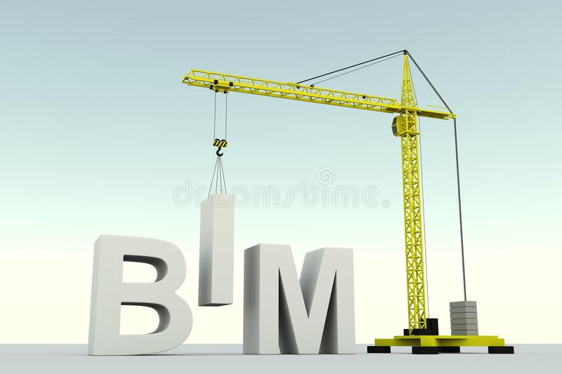 BIM illustration libre de droits