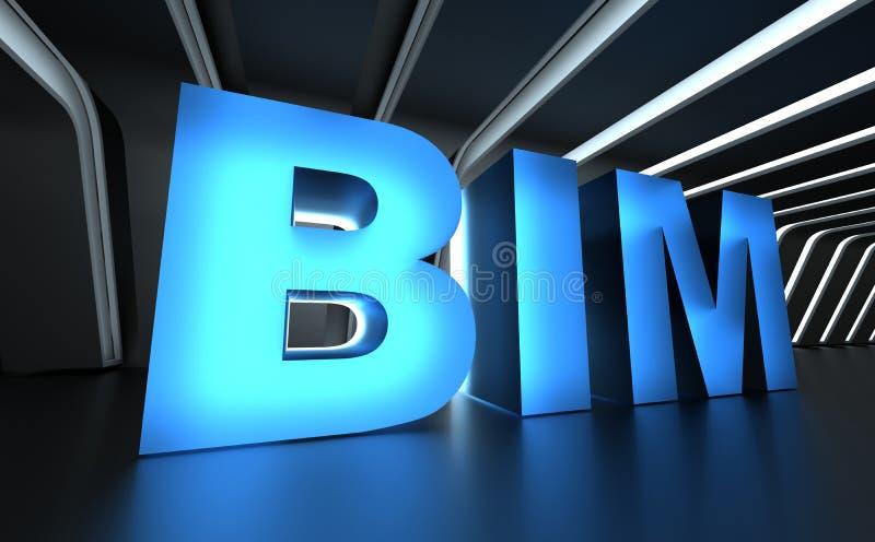 BIM - Gebäude-Informations-Modellieren lizenzfreie stockbilder