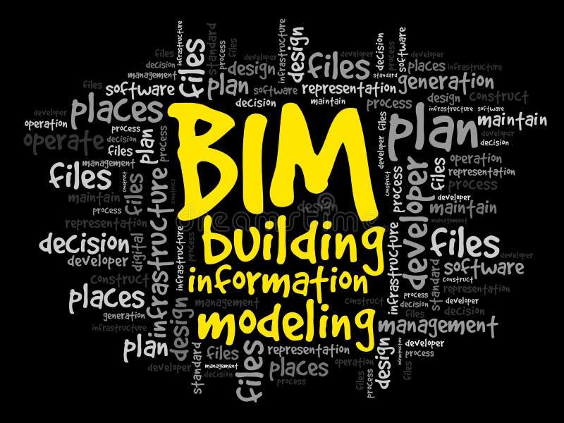 BIM - Modélisation de l'information de bâtiment illustration de vecteur