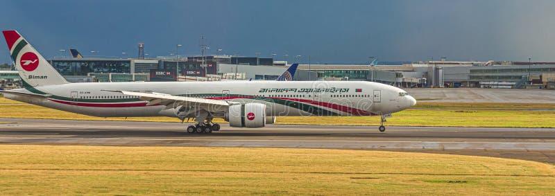 Biman Bangladesh Airlines foto de archivo libre de regalías