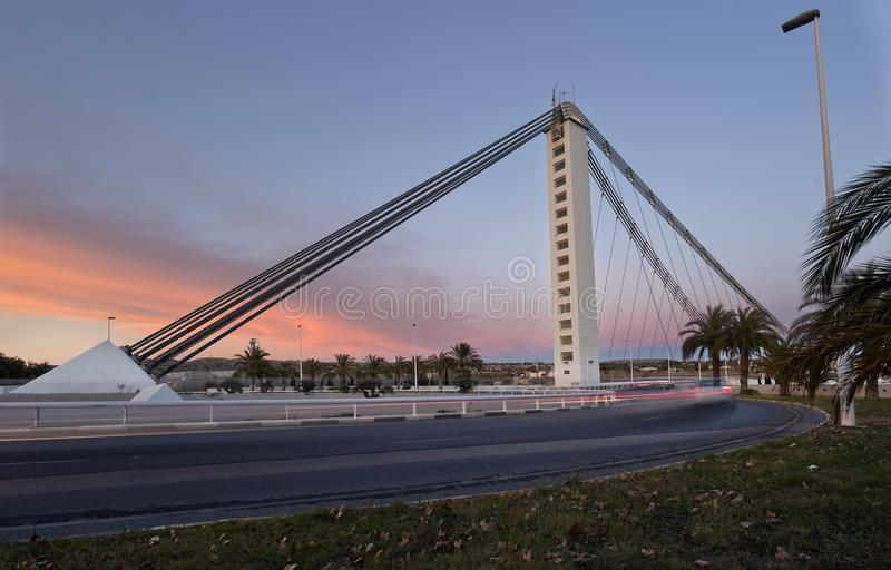 Bimilenari的桥梁在市埃尔切 库存照片