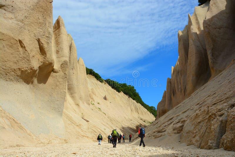Bimssteinklippen in der Reserve lizenzfreie stockbilder