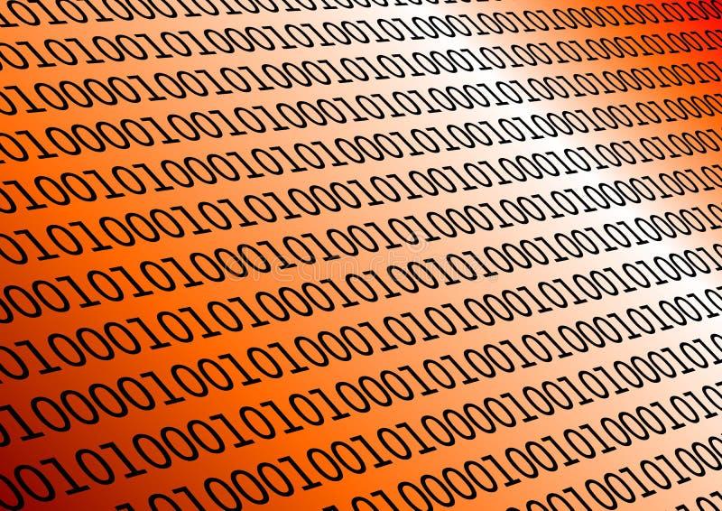 Binário na laranja ilustração do vetor