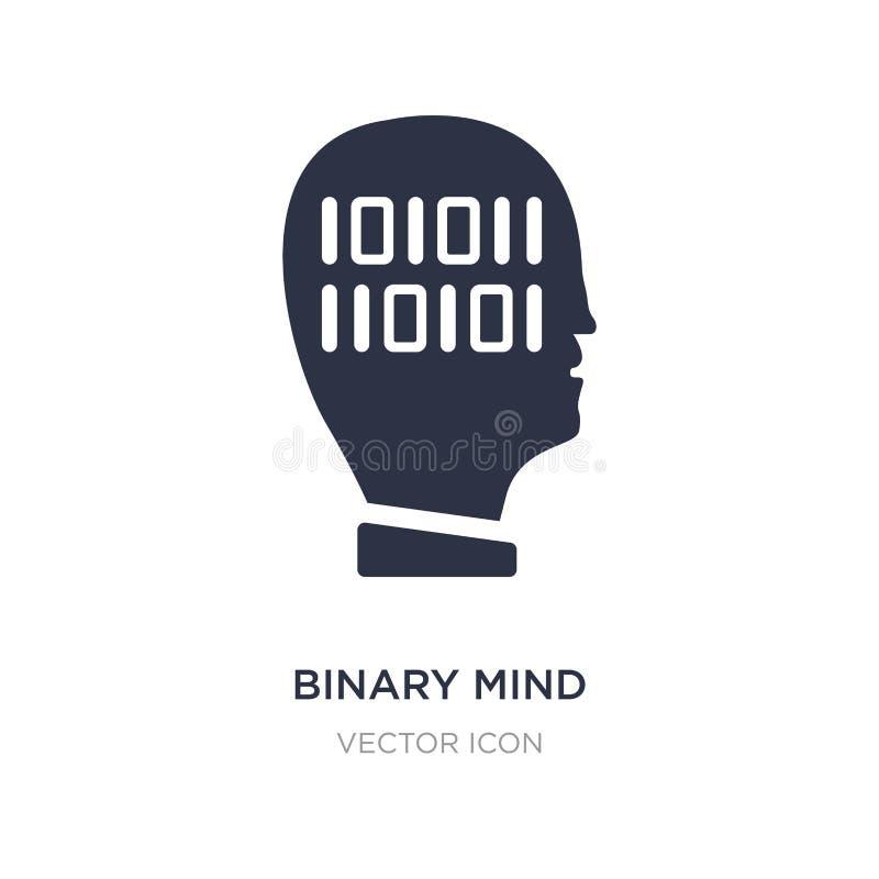 binäre Sinnesikone auf weißem Hintergrund Einfache Elementillustration vom Technologiekonzept lizenzfreie abbildung