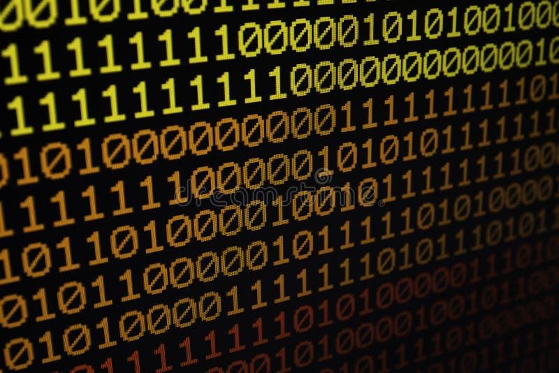 Binär bakgrund för kod för matrisdatordata sömlös royaltyfria bilder