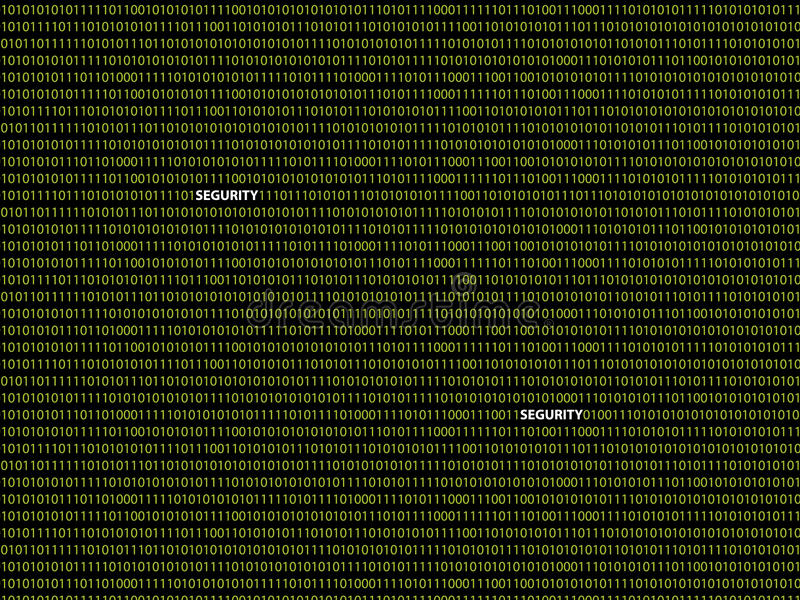 Binär bakgrundssegurity arkivbilder