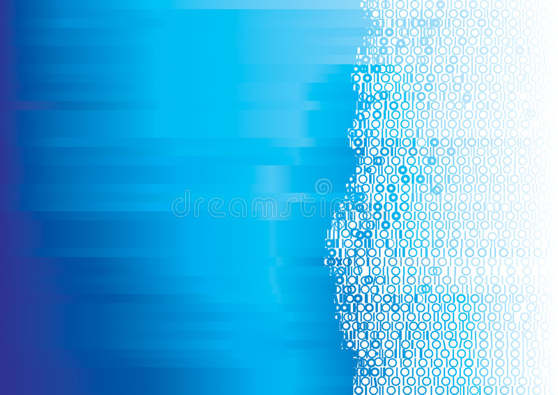 binär blue vektor illustrationer