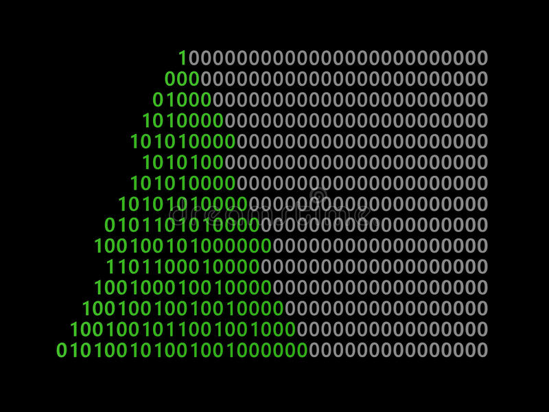 Binär Code-Baum vektor abbildung