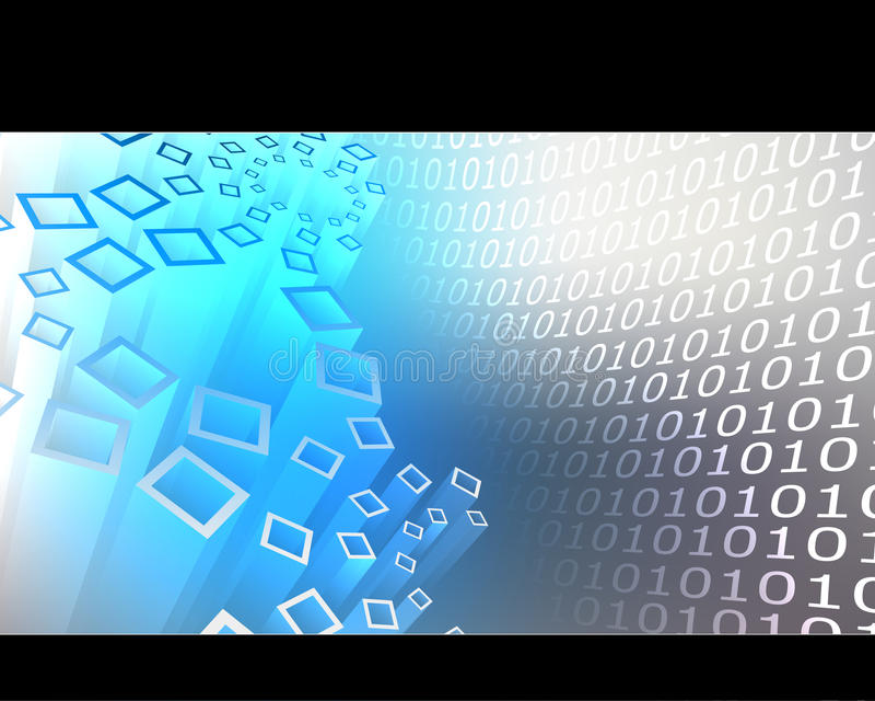 Binär Code-Hintergrund stock abbildung