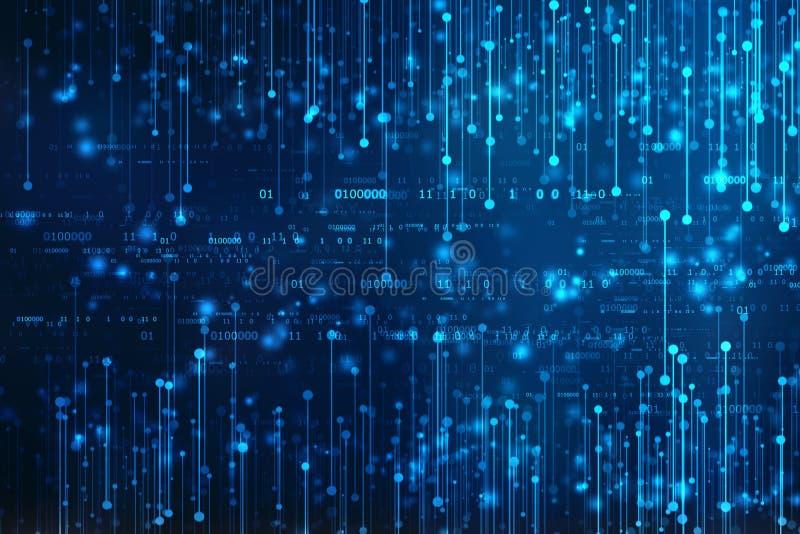 Binär Code-Hintergrund, abstrakter Technologiehintergrund Digital lizenzfreies stockfoto