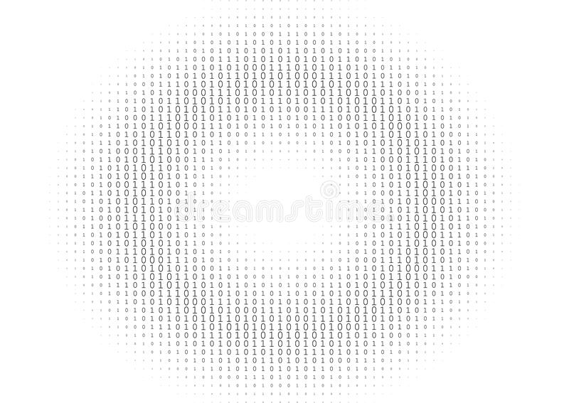 Binär Code-Schwarzweiss-Hintergrund vektor abbildung