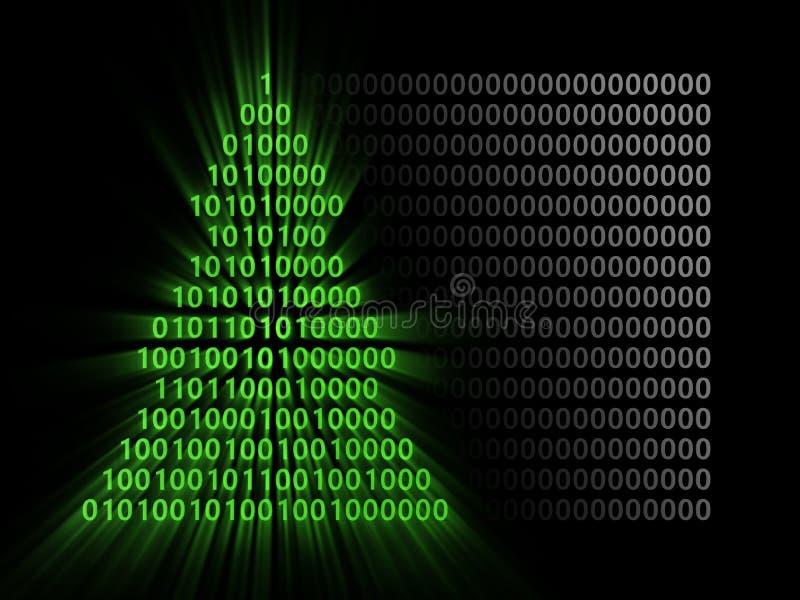 Binär Code-Weihnachtsbaum lizenzfreie abbildung