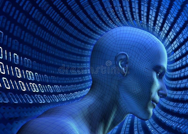 binär cyberspace royaltyfri illustrationer