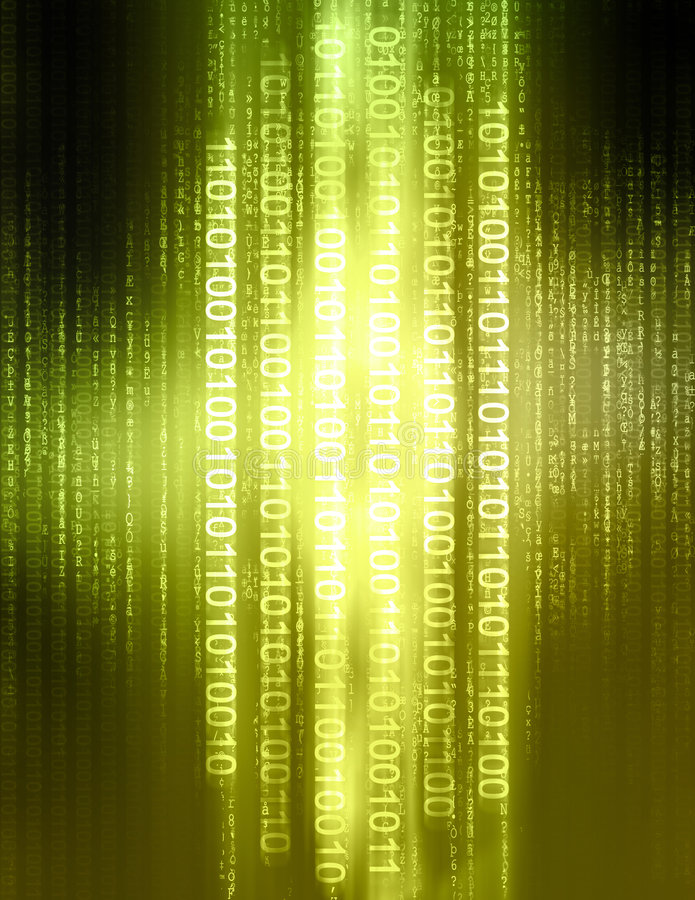 binär kod vektor illustrationer