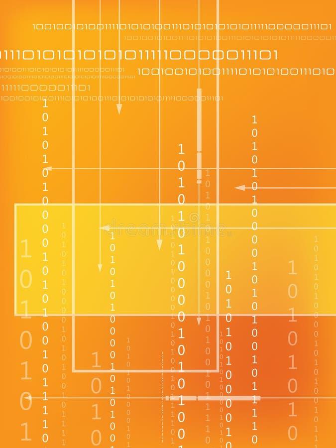 binär kod stock illustrationer