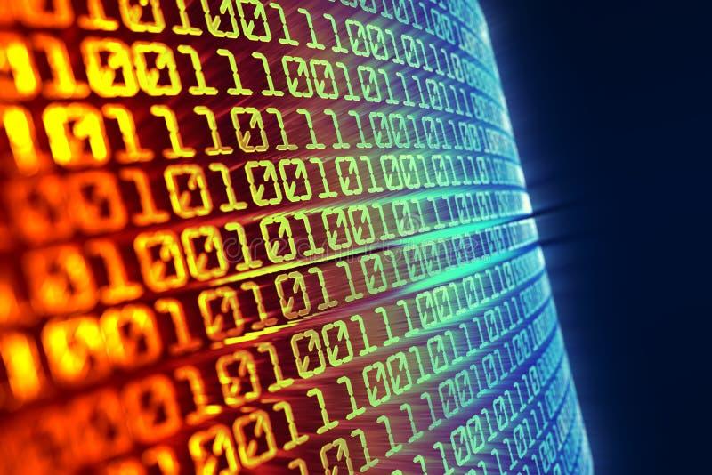 binär kod för bakgrund stock illustrationer