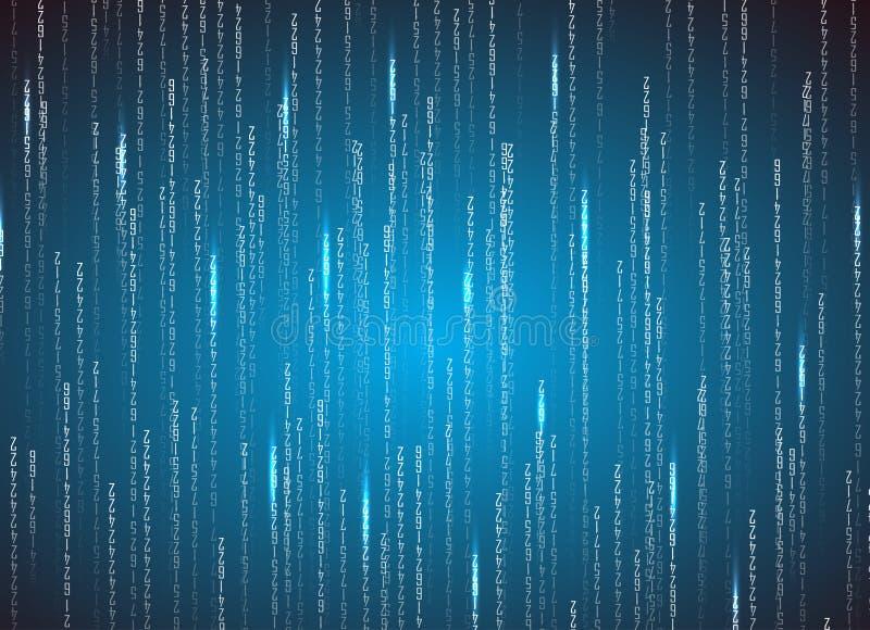 Binär kod för matris Teknologiillustration vektor illustrationer