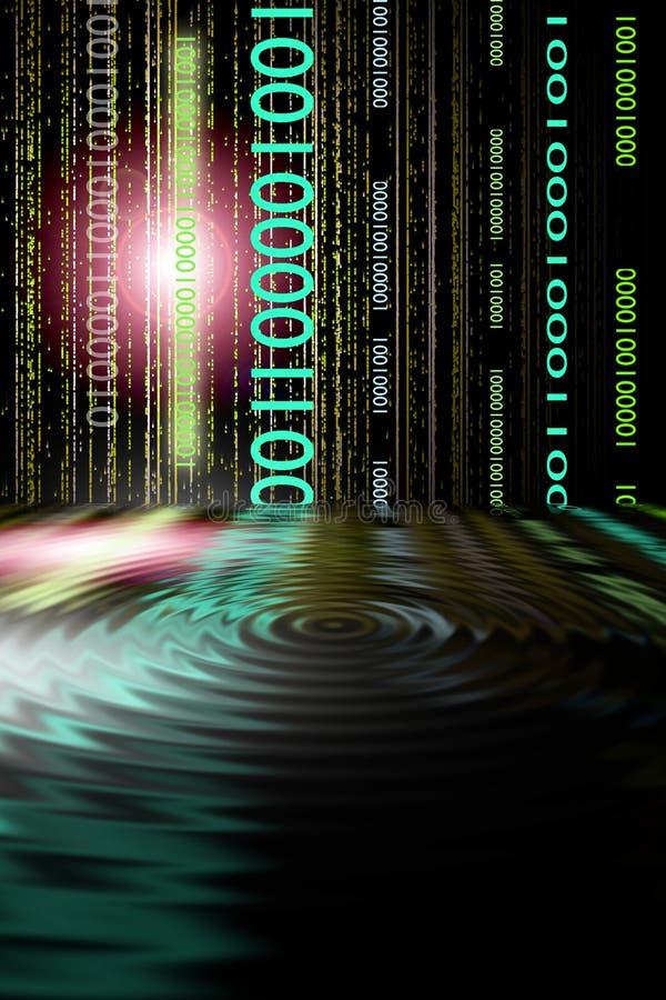 binär pöl vektor illustrationer