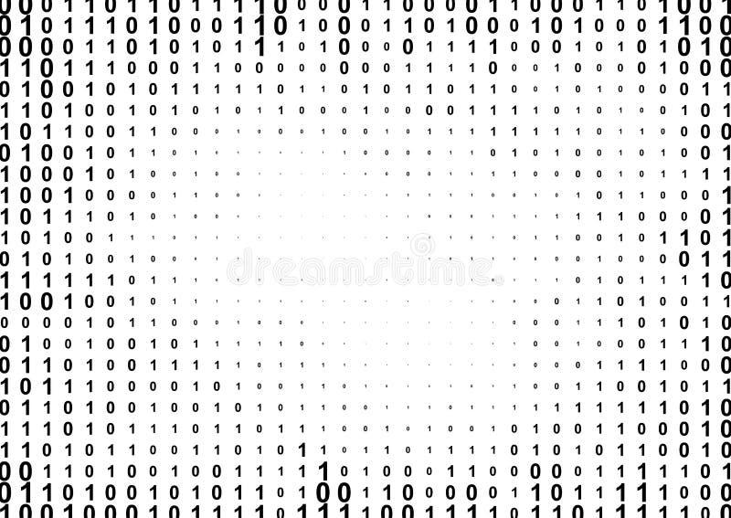 Binär rastrerad modell för datorkod stock illustrationer