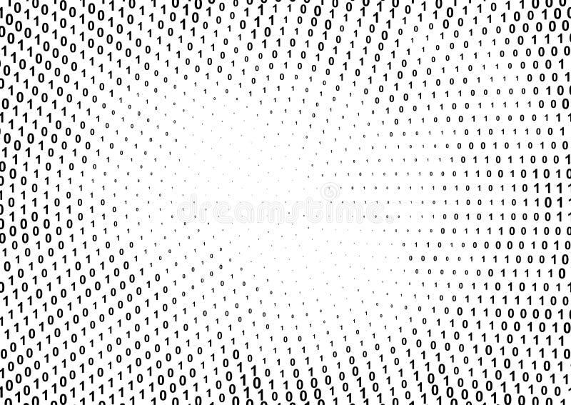 Binär rastrerad modell för datorkod royaltyfri illustrationer
