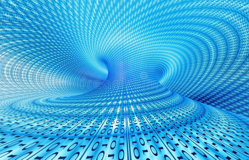 binär teknologi stock illustrationer