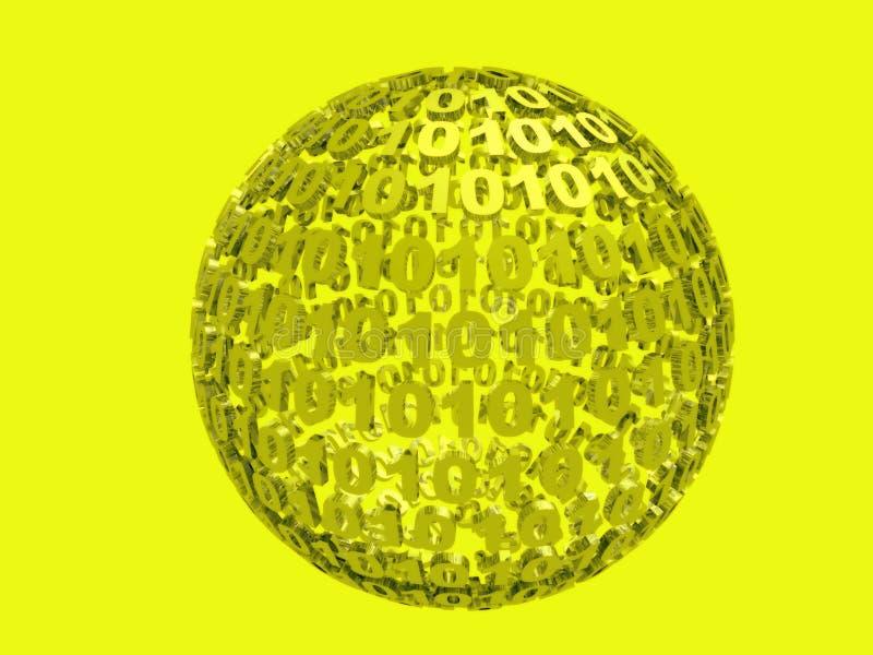 binär yellow royaltyfri illustrationer