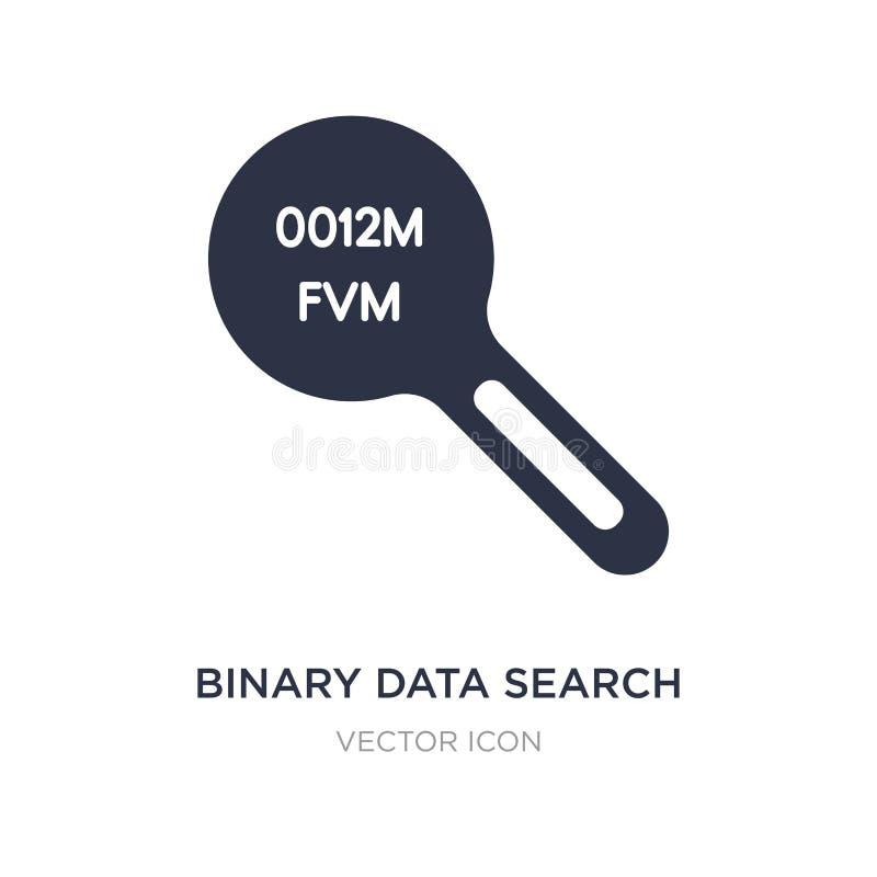 binära data söker symbolen på vit bakgrund Enkel beståndsdelillustration från UI-begrepp stock illustrationer