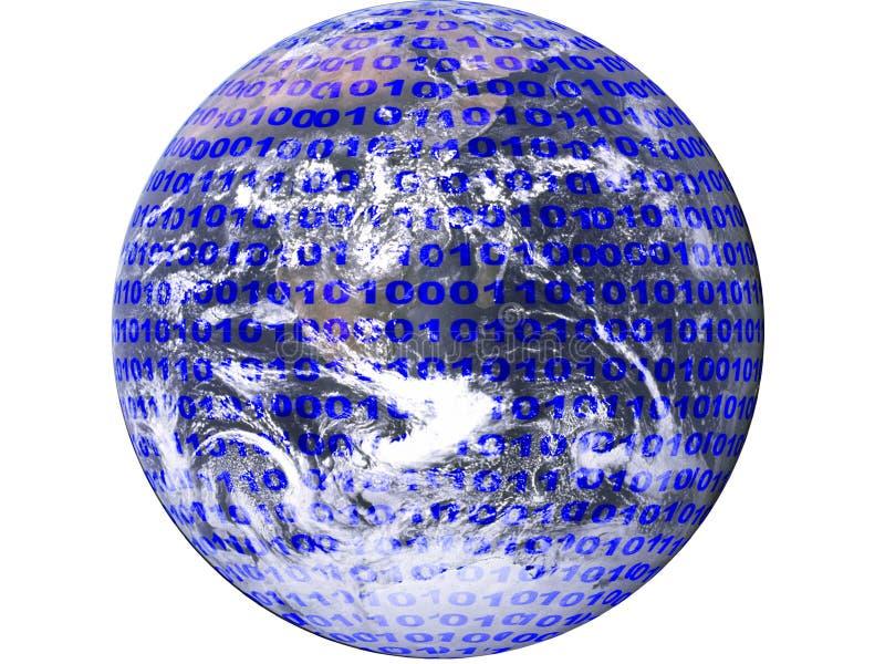 binära data som visar diagrammet royaltyfri illustrationer