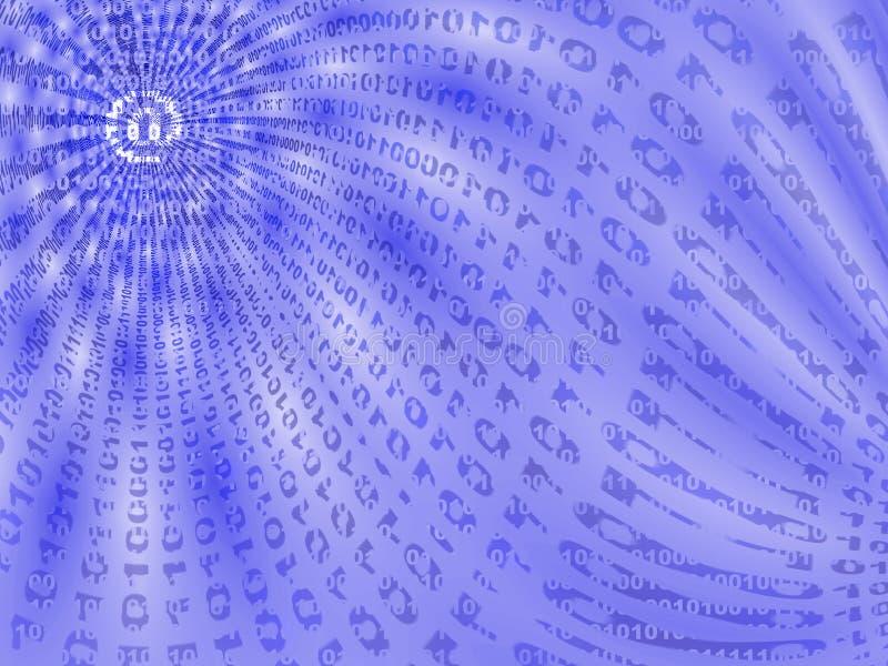 binära data som visar flödesdiagrammet vektor illustrationer