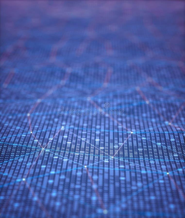 Binära koder för abstrakt bakgrund vektor illustrationer