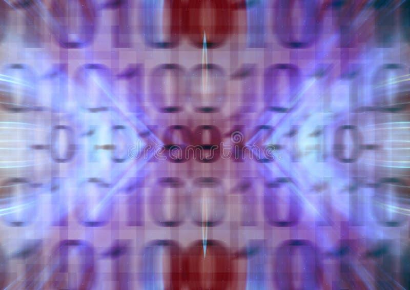 binära koder för bakgrund vektor illustrationer