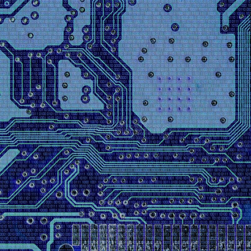 Binära koder och mikrochipers royaltyfri bild
