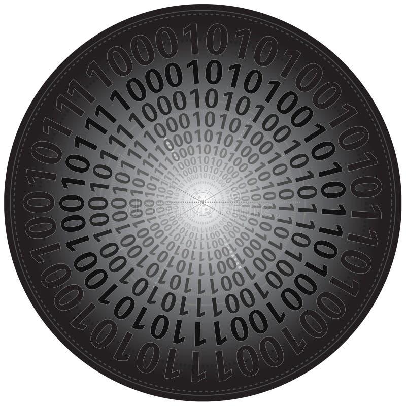 Binäre Codes im Kreis stock abbildung