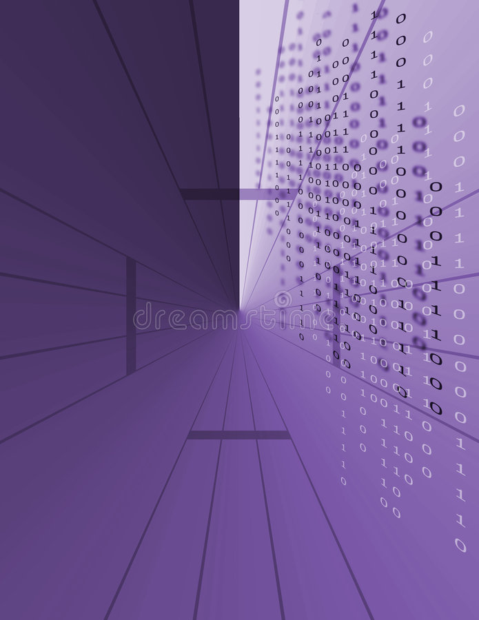 Binäre Daten-Code vektor abbildung
