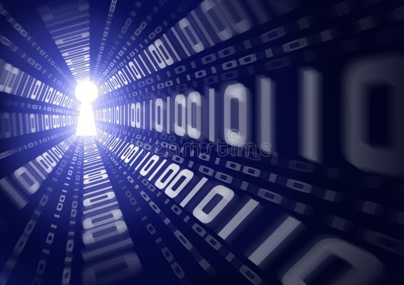 Binäre Daten-Leck lizenzfreie abbildung
