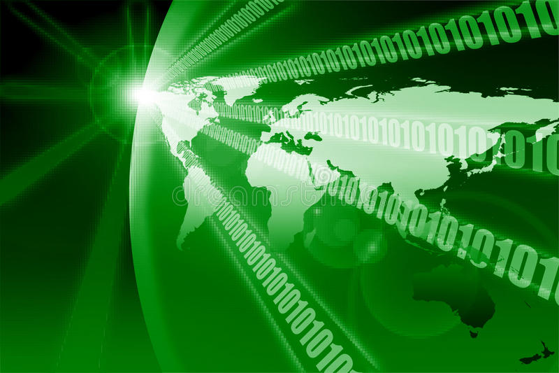 Binäre digitale Planetenerde stock abbildung