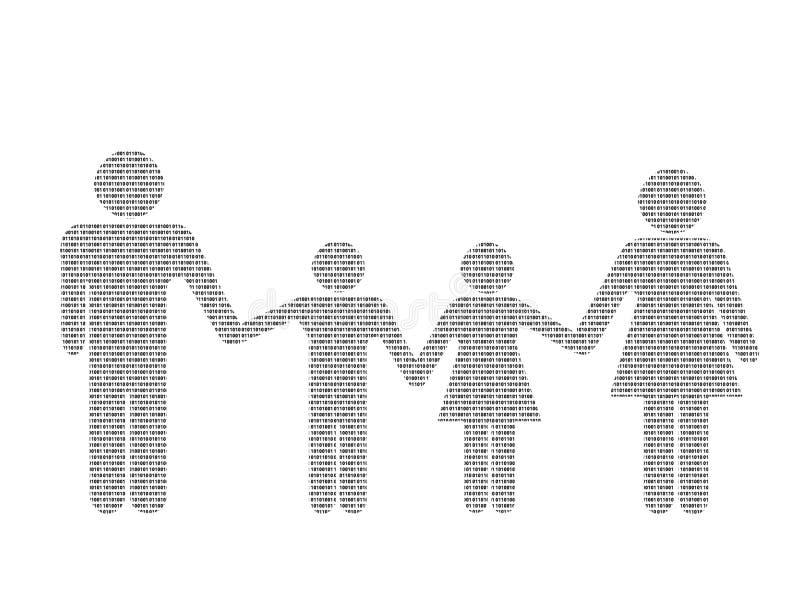 Binäre Familie lizenzfreie abbildung
