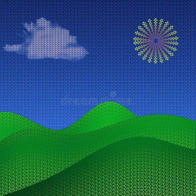 Binäre Landschaft vektor abbildung