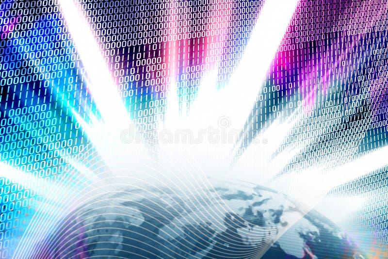 Binäre World- Wide Webkugel lizenzfreie abbildung