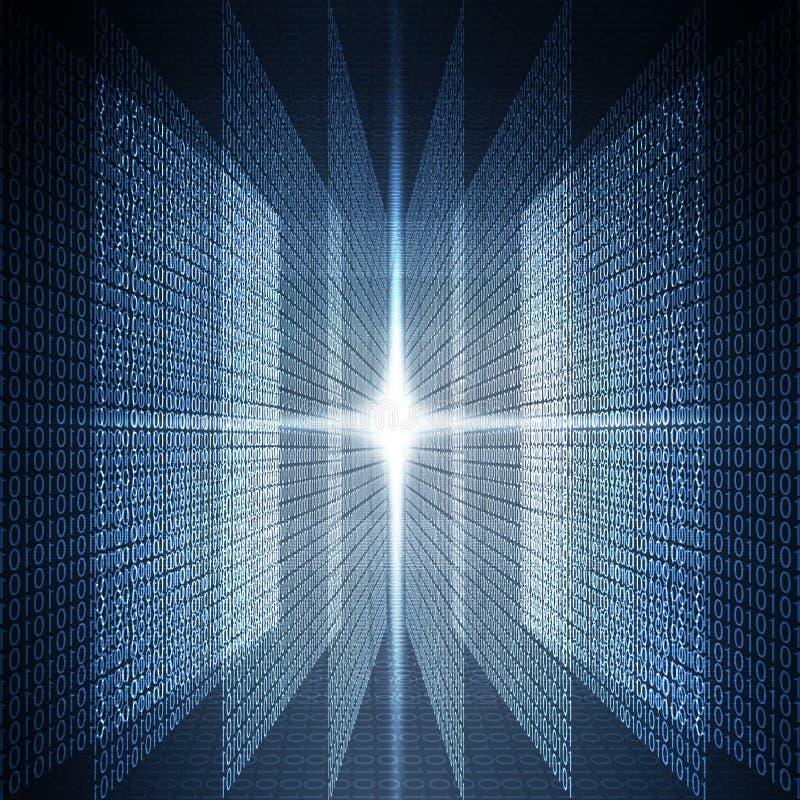 Binärer abstrakte Hintergrund stock abbildung