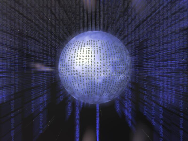 Binärer Code. lizenzfreie abbildung