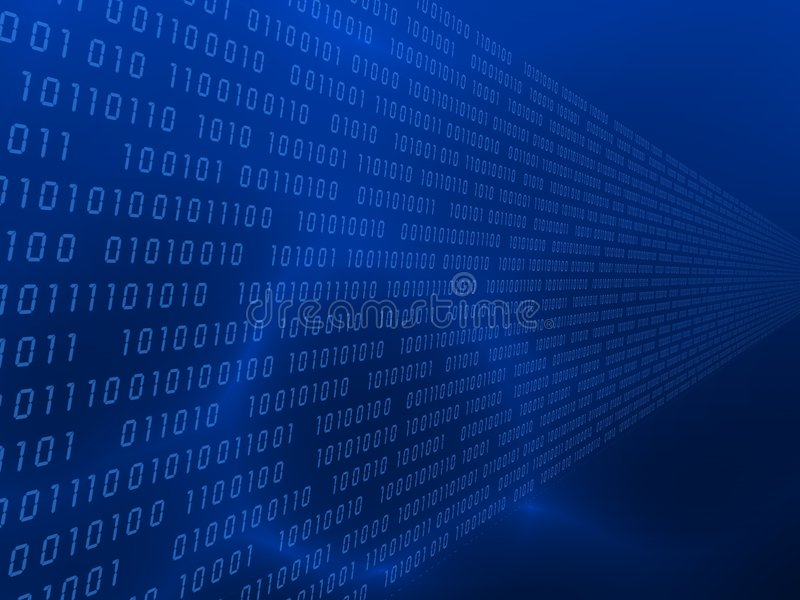 binärer Code 3d lizenzfreie abbildung