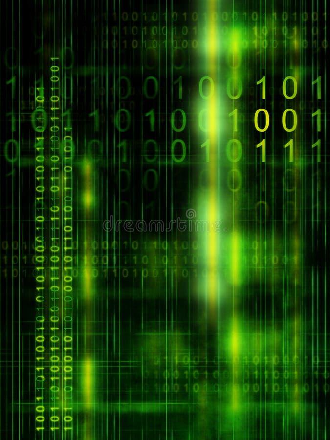 Binärer Code stock abbildung