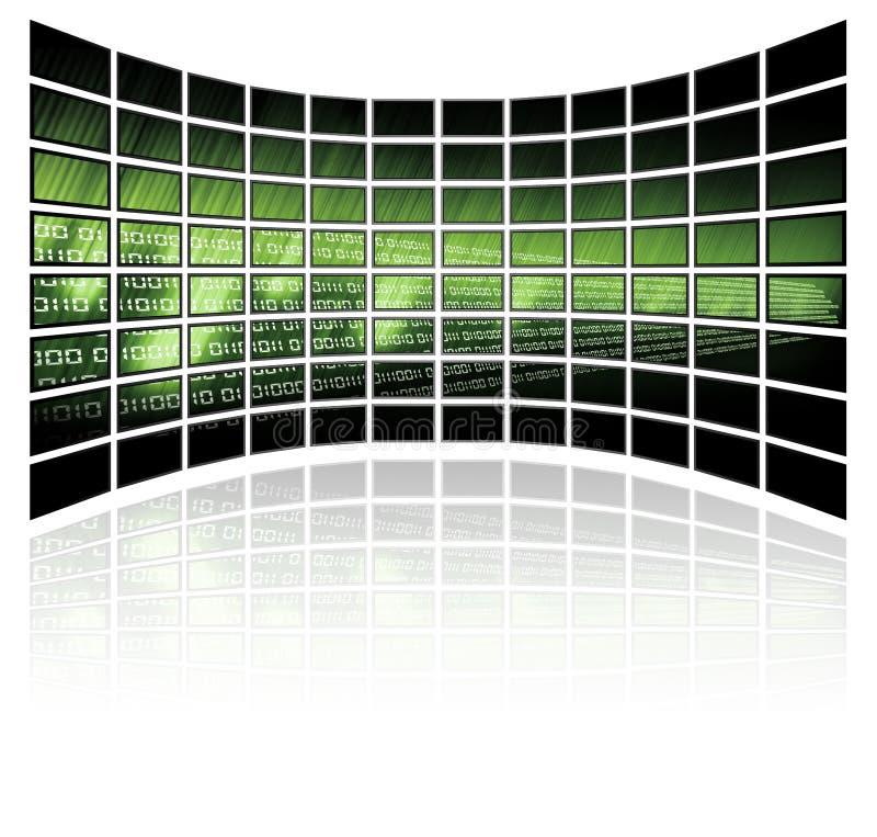 Binärer Code auf Rasterfeldhintergrund vektor abbildung
