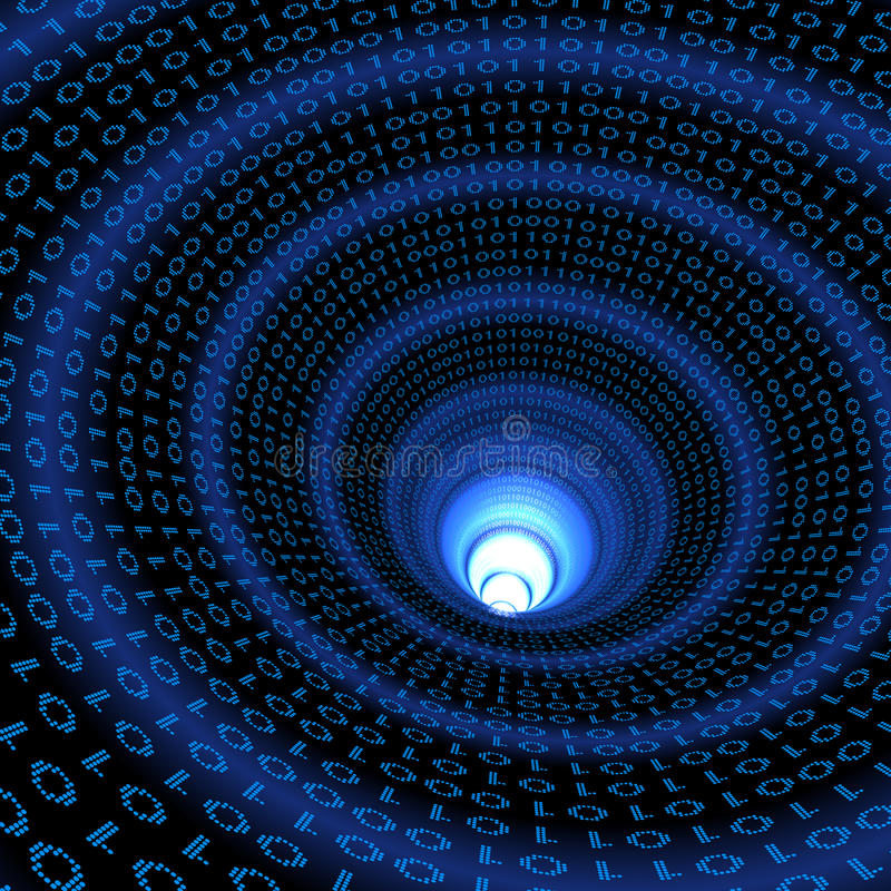 Binärer Datenstrom lizenzfreie abbildung