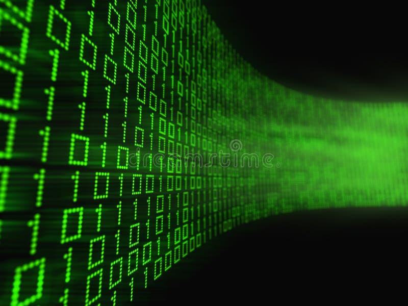 Binärer Datenstrom vektor abbildung