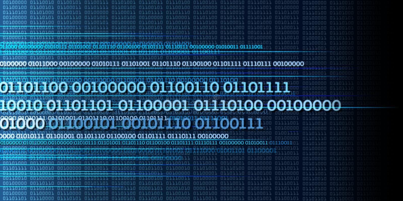 Binärer Datenstrom, Binärzahlen, große Daten, Informationen - dyna lizenzfreie abbildung