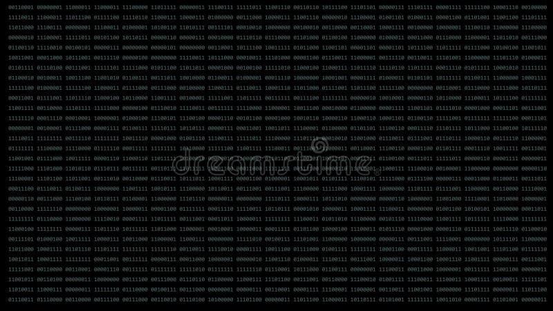 Binärer Matrixhintergrund stock footage